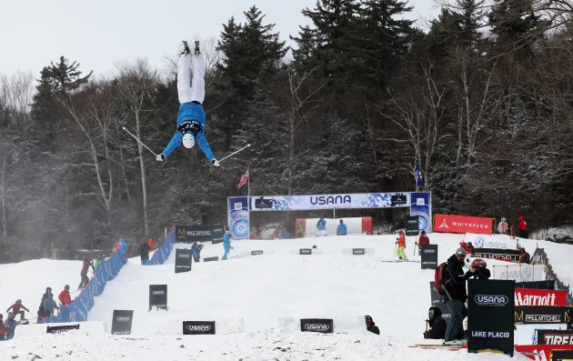 Freestyle skiing at Whiteface Mountain